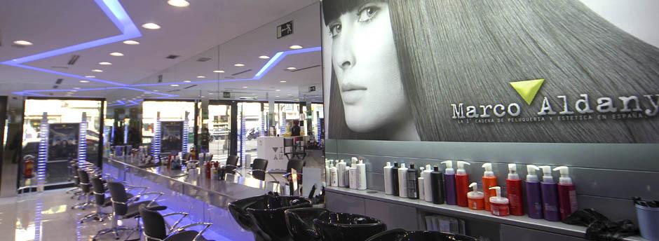 iluminacion led en peluquerias Marco Aldany