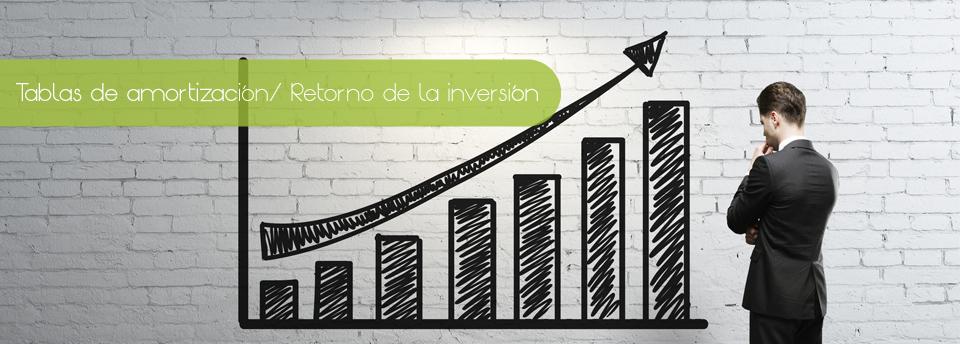 Tablas de amortización / Retorno de la inversión Image