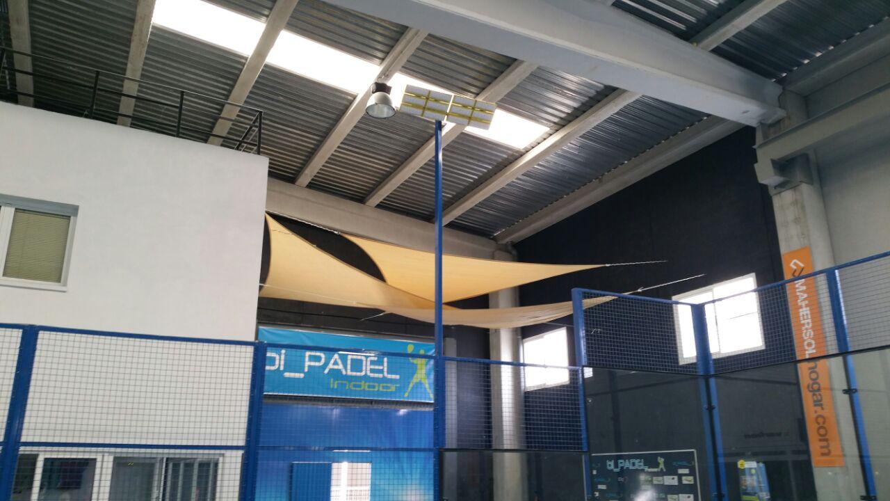 Iluminacion led pistas padel Bipadel Indoor Bigastro